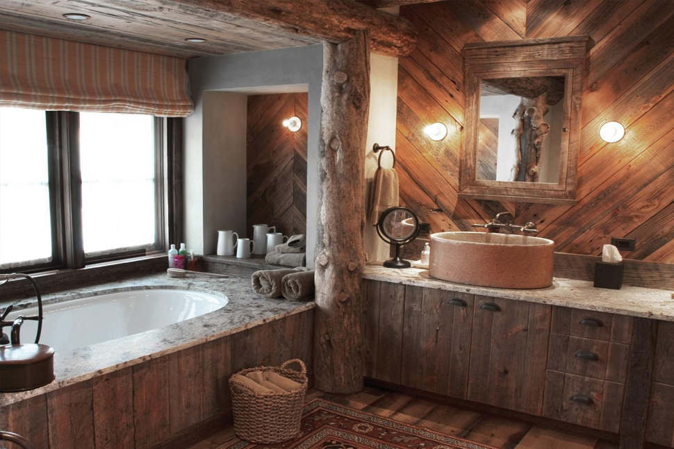 Rustik Tarz Banyo Tasarımı