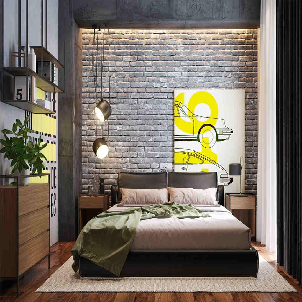 Modern Loft Tarzı Yatak Odası Tasarımları