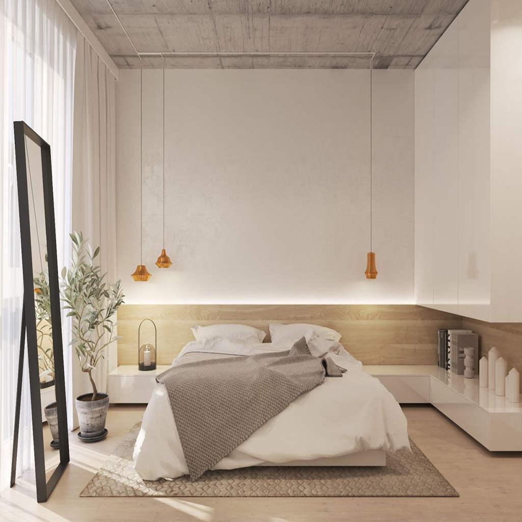 Modern Yatak Odası Gizli Aydınlatma
