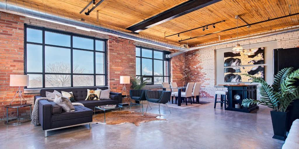 hard loft daire tasarımı