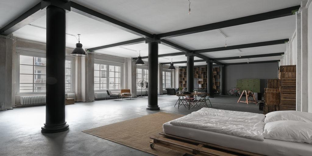 loft tarzı daire planı