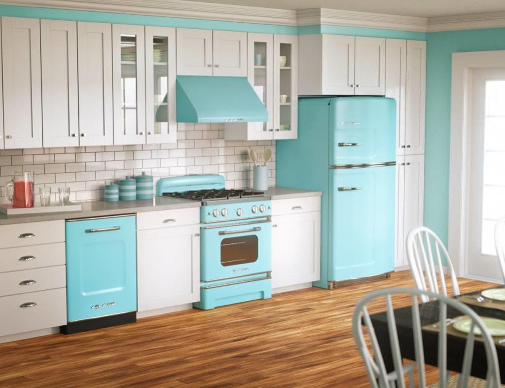 Renkli Vintage Mutfak Tasarımı