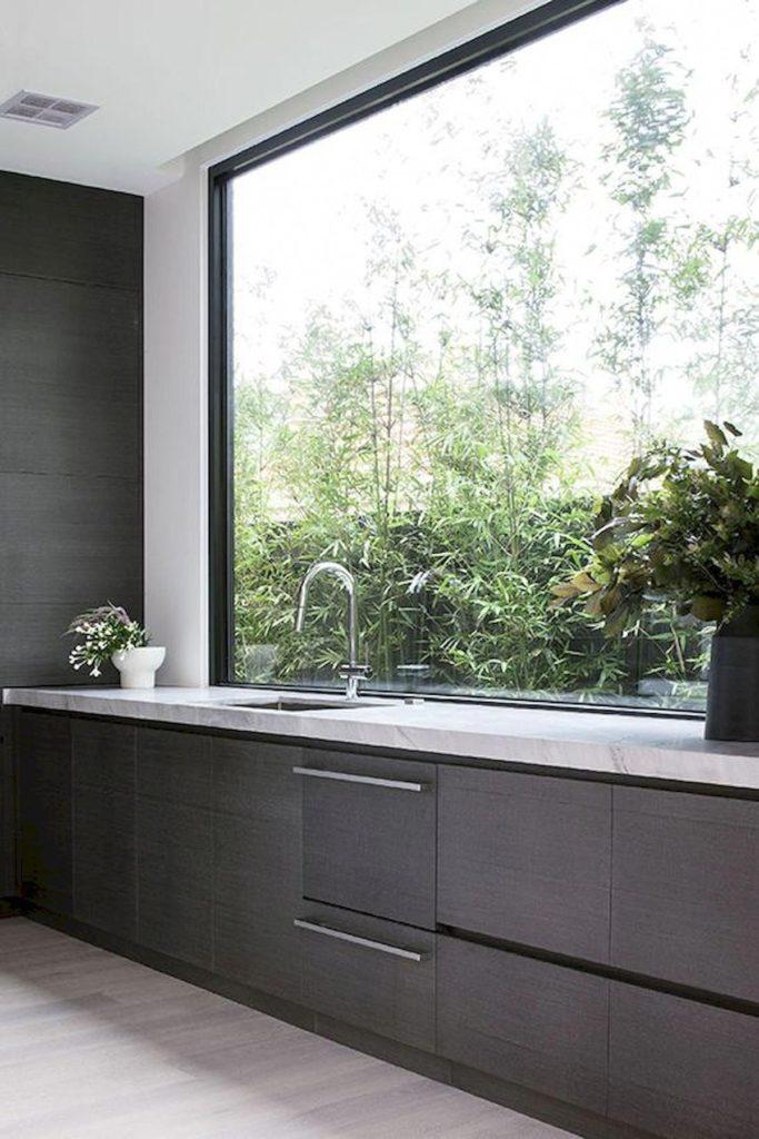 Doğal ışık modern mutfakta doğal ışık